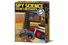 4M Spy Science Secret Messages and over 7,500 other quality toys at Fat Brain Toys. So many good spy things included - sleuthing never played better. Eight useful spy tools included; many top secret techniques revealed. Learn to encode with conceal secret messages and learn fun facts, too!