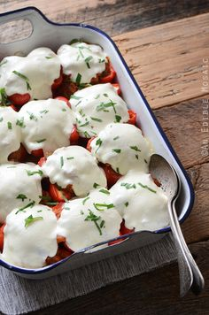 Pizza Stuffed Peppers from An Edible Mosaic was featured in the April 2015 #DeliciouslyHealthyLowCarb Recipes Round-Up on KalynsKitchen.com.
