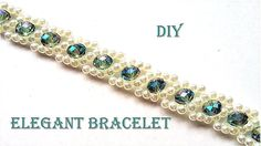 How to make pearls and crystal bracelet. Easy pattern tutorial for a bea...
