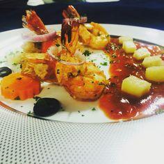 Deep fried prawn with uen sauce