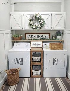 Laundry Room Decals, Laundry Decor, Laundry Room Signs, Laundry Closet, Small Laundry Rooms, Outdoor Laundry Rooms, Farmhouse Laundry Rooms, Outdoor Spaces, Garage Laundry