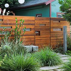 Privacy protected. Horizontal #wood fence