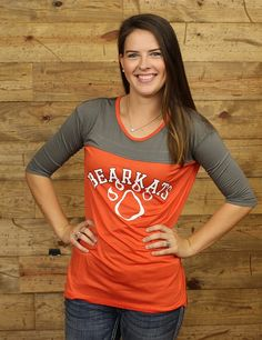 Show off your Bearkat spirit in this cute 34 sleeve tee GO SAM HOUSTON STATE
