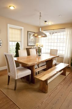 36 Best Bright Color Dining Room Design Ideas. Natural Wood Dining TableWood  ...