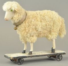 German Pull Toy Sheep