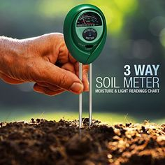 HealthyWiser 3in1 Soil Meter Tests Moisture Light and pHAcidity Soil Testing Equipment for Garden Lawn Farm Indoor Plants and Herbs No Battery Needed Soil Tester with 100 Accuracy * Check this awesome product by going to the link at the image.