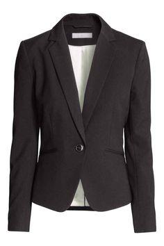 Fitted jacket - Black - Ladies | H&M