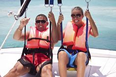 Parasailing over the Crystal Coast of NC: Outdoor Adventure Bucket List for the Crystal Coast: This gorgeous part of the Southern Outer Banks offers outdoor adventures galore. Whatever kind of outdoor enthusiast you are, you'll find plenty of options to satisfy your thirst for adventure during your time on the Crystal Coast of North Carolina.