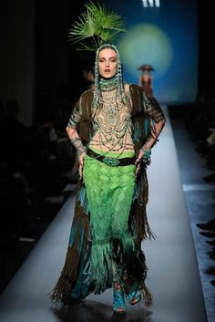 Love the Mexican overtones of this look from Jean Paul Gaultier's SS10 haute collection