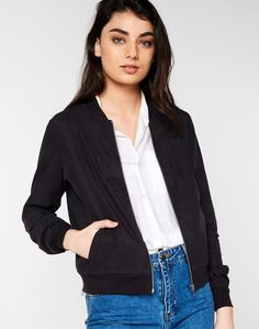 Shop and buy the latest in women's fashion and clothing online at Glassons.com. Check out this Classic Bomber Jacket - Meet the bomber jacket, an absolute staple for the wardrobe this season.