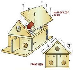 For the mom who is a bird enthusiast. Build her a Purple Martin House for the birds #buildabirdhouse