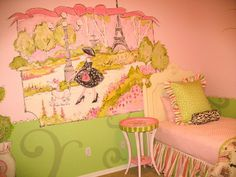 Image Detail for - Murals Wall Bedroom with Pink Theme Design Ideas - Best Wall Murals ...