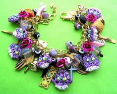 Day of The Dead Sugar Skulls Charm Bracelet available on Etsy