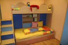 Powerful Kids Loft Bed Made From Wooden Material In Small Unique Shaped Design For Home Inspiration To Your House