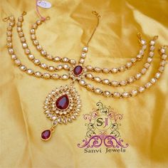 Zircon Antique Maathapatti - Online Shopping for Maang Tikkas by Sanvi Jewels Pvt. Ltd.