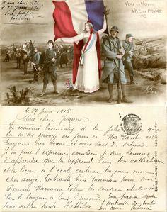 Vers la Victoire - Vive la France - 1916 (from http://mercipourlacarte.com/picture?/1089/)