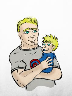 Chris Evans / Captain America / Steve Rogers With His Baby Future Son