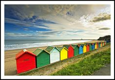 Whitby Beach Huts | Flickr - Photo Sharing! Uk Beaches, Lifeguard, Outdoor Furniture, Outdoor Decor, Rainbow Colors, Yorkshire, Beach Huts, Seaside, Bamboo