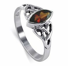 Sterling Silver Marquise Shaped Garnet Cubic Zirconia with Solitaire Celtic Endless Knot Design Polish Finish 2mm Band Ring Size 8 Gem Avenue,http://www.amazon.com/dp/B000QZ5JH8/ref=cm_sw_r_pi_dp_54DJsb08V6Y9WETS