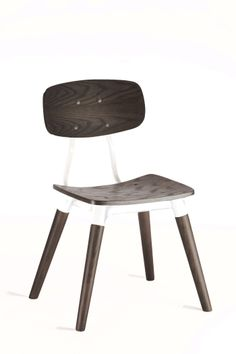 Public Chair Weathered Black Oak on White / Industry West