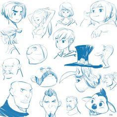 free drawing - face thumnail sketch #soonsangworks #disney #sketching #drawing #character #digital #art
