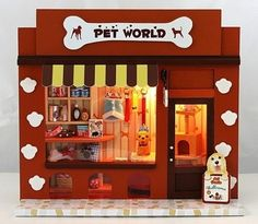 DIY Wooden Dollhouse Miniatures DIY Pet World Shop Kits Pet Stores Cute Handwork | eBay