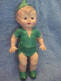 Vintage Disney Peter Pan Soft Rubber Squeak Doll 1950's Toy Sun Rubber | eBay