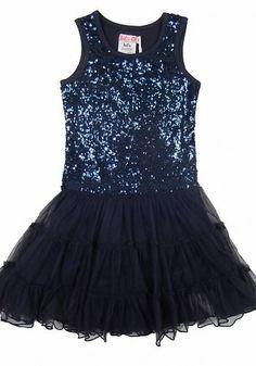 LoFff Blauwe jurk met glitter