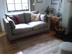 The Emily sofa in Pigeon coloured herringbone