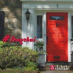 Elige el tono correcto para la puerta de tu hogar. El color rojo, invita a la prosperidad. #FengShui