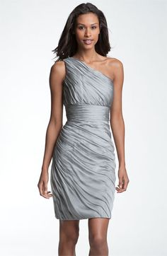 ML Monique Lhuillier Bridesmaids One Shoulder Ruched Chiffon Sheath Dress from Nordstrom Wedding Suite