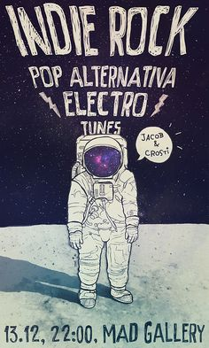 indie rock party poster by crosti, via Flickr