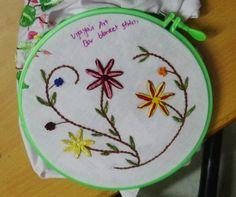 Hand Embroidery Designs # 149 - Bar blanket stitch design