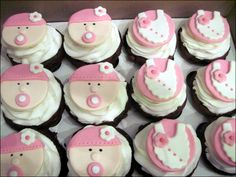 Cupcakes, Easy Made Design Baby Shower Cupcake In Simple Style 01107: Cute Baby Shower Cakes Design & Decoration