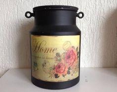 Decoupage Art, Milk Cans, Tableware, Diy, Painting, Biscuit, Vintage, Craft, Home Decor