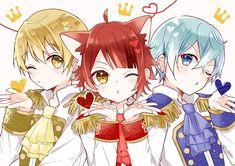 Kawaii Anime, Cute Anime Chibi, Anime Cat, Cute Anime Boy, Anime Manga, Anime Guys, Anime Best Friends, Friend Anime, Vocaloid
