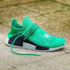 "d4c85ea421d58e Pharrell X Adidas NMD Human Race ""Green""  nike  jordans  adidas   · Lebron  JordanKobe ..."