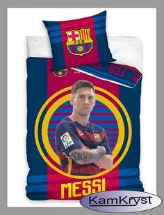 Najnowszy wzór pościeli z piłkarzami FC Barcelony - pościel z Leo Messim dostępna na stronie http://www.kamkryst.pl/fc-barcelona-messi-c-82_91.html