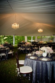 Tented Wedding Reception - PHOTO SOURCE • LUXE HOUSE PHOTOGRAPHIC, Featured on WedLoft