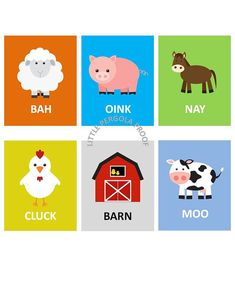 Kids wall art Farm Animal Art prints for Kids, Sing Old McDonald Had a Farm- Set of Six-8x10 prints, nursery, or playroom, or as a gift on Etsy, $84.00