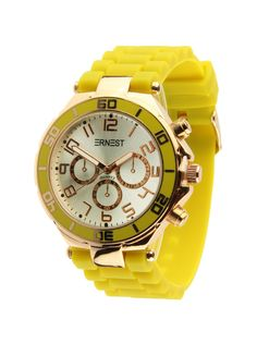 Ernest Horloge Rose Goud - Geel is een prachtig rose gouden horloge met een…