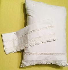 Luxury hand embroidered linen set of pillowcase.White cotton bed linen with embroidery lace. Cotton Bedding, Cotton Pillow, Linen Bedding, Decorative Pillow Covers, Bed Linen, White Cotton, Etsy Seller, Victorian, Embroidery