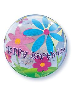 We love Bubble Balloons as they last for 2 - 4 weeks and feel just like a beach ball! Happy Birthday Flower, Girl Birthday, Bubble Balloons, Bubbles, Qualatex Balloons, Birthday Balloons, Diy Flowers, Gadget, 3 D