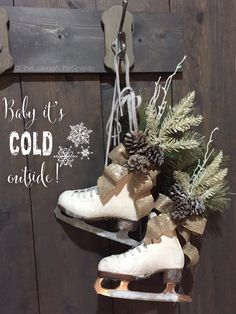 Ice Skates Christmas Decor