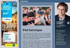 Fait héroïque - La Presse+