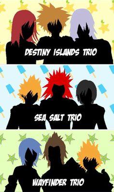 Why do they always split up! Kingdom Hearts Trios -Kairi, Sora, and Riku -Roxas… Final Fantasy, Kingdom Hearts 3, Pokemon, Shall We Date, Video Game Characters, Video Game Art, Geek Culture, Disney, Fan Art