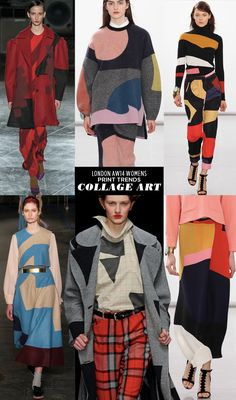 pattern people AW14 Womens Print Trends London collage Runway | AW14 Womens London Print Stories