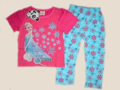 Frozen 2pc Pajamas Set Pink Blue 2T- 7. Starting at $12 on Tophatter.com!