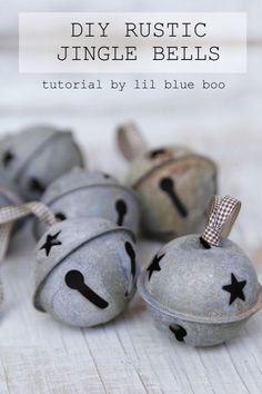 How to make your own rustic jingle bells from any shiny or finished bell. An easy to to distress metal bells to add instant age and patina for rustic look. MichaelsMakers Lil Blue Boo