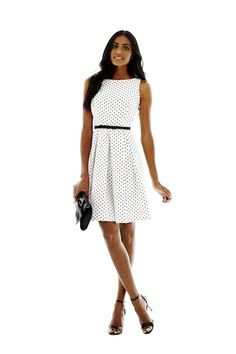 danny & nicole polka dot dress